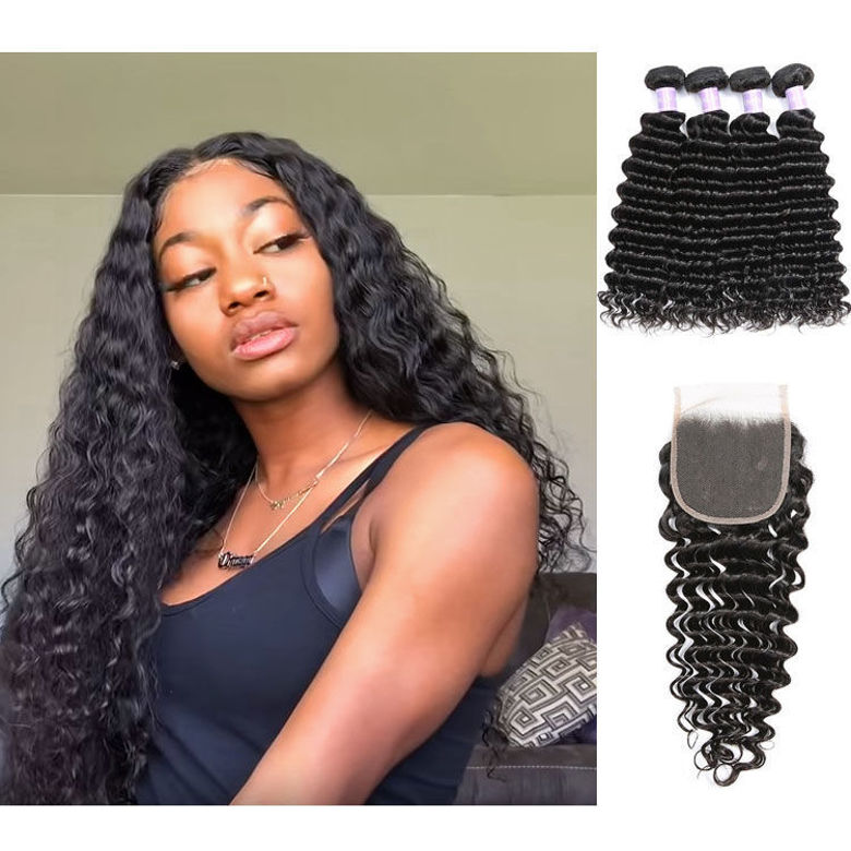 0004165_SocoosoHairWig-peruvian-remy-hair-4-bundles-with-lace-closure-all-deep-wave-hair-piece-4×4-inch-square_780